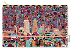 Indianapolis Skyline Abstract 4 Carry-all Pouch by Bekim Art