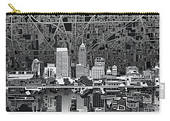 Indianapolis Skyline Abstract 5 Carry-all Pouch by Bekim Art