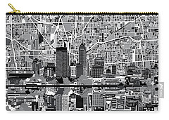 Indianapolis Skyline Abstract 6 Carry-all Pouch by Bekim Art