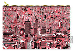 Indianapolis Skyline Abstract 8 Carry-all Pouch by Bekim Art