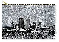 Indianapolis Skyline Abstract 9 Carry-all Pouch by Bekim Art