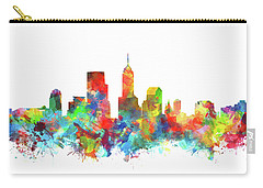Indianapolis Skyline Watercolor 3 Carry-all Pouch by Bekim Art