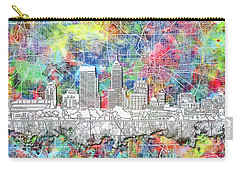 Indianapolis Skyline Watercolor 8 Carry-all Pouch