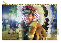 Carry-all Pouch featuring the photograph Indians Invade Thailand. Cowboys Too by Mr Photojimsf