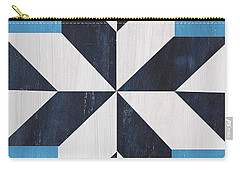 Indigo And Blue Quilt Carry-all Pouch