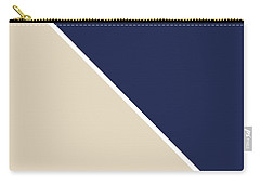Indigo And Sand Geometric Carry-all Pouch
