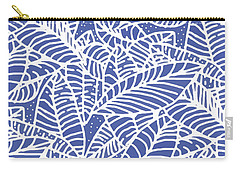 Indigo Batik Leaves Medium Carry-all Pouch
