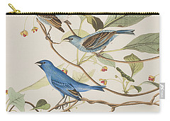 Indigo Bird Carry-all Pouch by John James Audubon