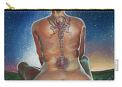 Carry-all Pouch featuring the painting Indigo Blue by Baroquen Krafts