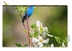 Indigo Bunting In Flowering Dogwood Carry-all Pouch by Bill Wakeley