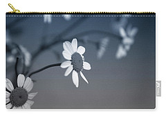 Indigo Daisies 1- Art By Linda Woods Carry-all Pouch