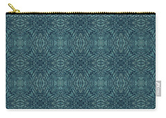 Indigo Diamond Cross Pattern 24in Carry-all Pouch
