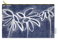 Indigo Floral 1- Art By Linda Woods Carry-all Pouch