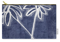 Indigo Floral 2- Art By Linda Woods Carry-all Pouch