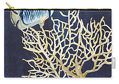 Indigo Ocean - Tan Fan Coral N Angelfish Carry-all Pouch