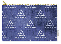 Indigo Triangles 2- Art By Linda Woods Carry-all Pouch