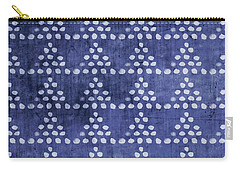 Indigo Triangles- Art By Linda Woods Carry-all Pouch