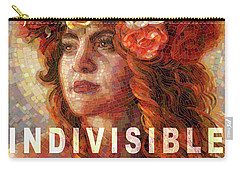 Carry-all Pouch featuring the glass art Indivisible by Mia Tavonatti