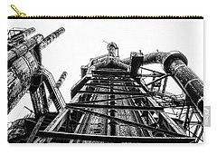 Industrial Age - Bethlehem Steel In Black And White Carry-all Pouch by Bill Cannon