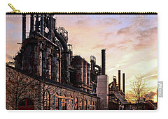 Carry-all Pouch featuring the photograph Industrial Landmark by DJ Florek