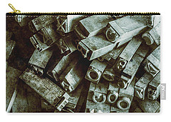 Industrial Letterpress Typeset  Carry-all Pouch