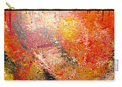 Carry-all Pouch featuring the painting Inferno by Jacqueline Athmann