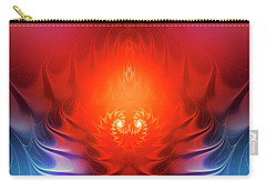 Carry-all Pouch featuring the digital art Inferno by Jutta Maria Pusl