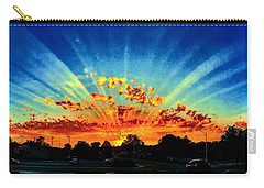 Infinite Rays From An Otherworldly Sunset Carry-all Pouch