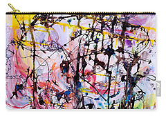 Information Network Carry-all Pouch by Regina Valluzzi