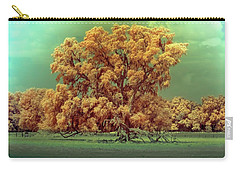 Infrared Surreal Tree Canopy Carry-all Pouch by Louis Ferreira