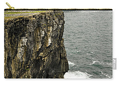 Carry-all Pouch featuring the photograph Inishmore Cliffs And Karst Landscape From Dun Aengus by RicardMN Photography