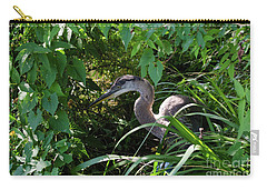 Injure Blue Heron Carry-all Pouch by Donna Brown