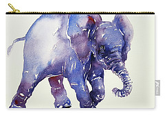 Inky Blue Elephant Carry-all Pouch