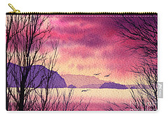 Carry-all Pouch featuring the painting Inland Sea Islands by James Williamson