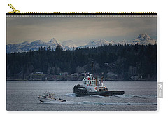 Carry-all Pouch featuring the photograph Inlet Crusader by Randy Hall