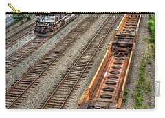 Carry-all Pouch featuring the photograph Inman Intermodal Yard Atlanta Norfolk Southern Railway Locomotive 2665 Art by Reid Callaway