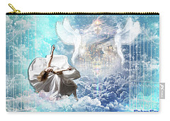 Carry-all Pouch featuring the digital art Inner Courts by Dolores Develde