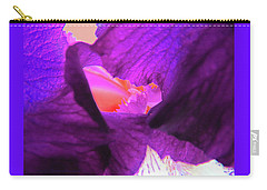 Inner Sanctum - Iris Macro - Floral Photography Carry-all Pouch
