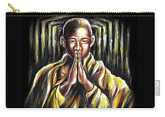 Carry-all Pouch featuring the painting Inori Prayer by Hiroko Sakai