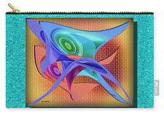 Carry-all Pouch featuring the digital art Inquiry by Iris Gelbart