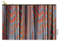 Smooth As Silk - Fabric Art - Photograph Manipulation - Aqua And Orange Carry-all Pouch