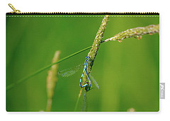 Carry-all Pouch featuring the photograph Insect On Straw, May 2016.  by Leif Sohlman