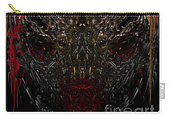 Carry-all Pouch featuring the digital art  Insecticidal  by Reed Novotny