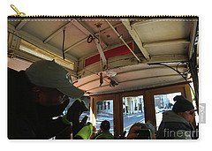 Carry-all Pouch featuring the photograph Inside A Cable Car by Steven Spak