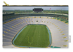 Carry-all Pouch featuring the photograph Inside Lambeau Field by Joel Witmeyer