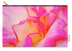Inside Rose Petal Curves Carry-all Pouch by Teri Virbickis
