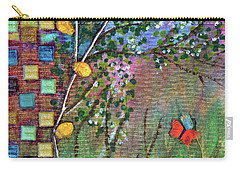 Inside The Garden Wall Carry-all Pouch by Donna Blackhall