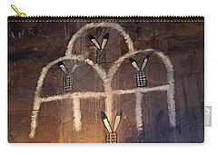 Carry-all Pouch featuring the photograph Inside The Watchtower 2 by Mary Bedy