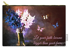 Inspirational Flower Art Carry-all Pouch