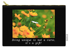 Inspirational-being Unique Is A Gift Carry-all Pouch